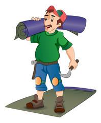 Carpet Installer, illustration