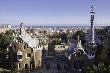 Park Güell from Gaudi in Barcelona