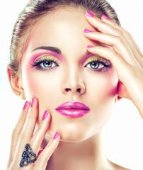 Fototapete - pink make up