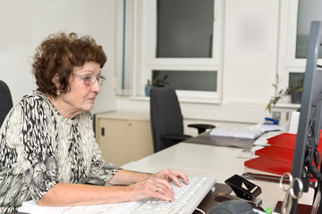Grandma in Office