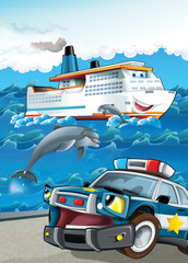 Wall Murals Cars The vehicle and the ship