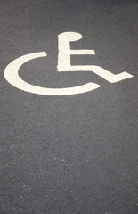 disabled bay parking space