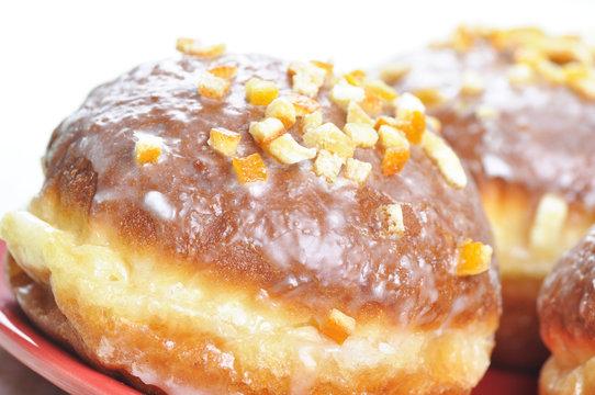 Closeup of polish donuts.