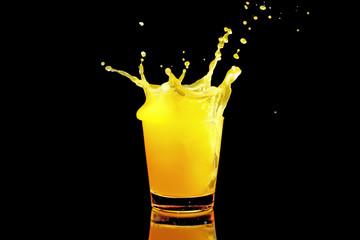 Orange splash Fototapete