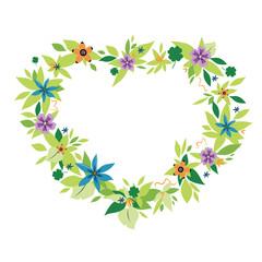 Flower Frame as a Heart