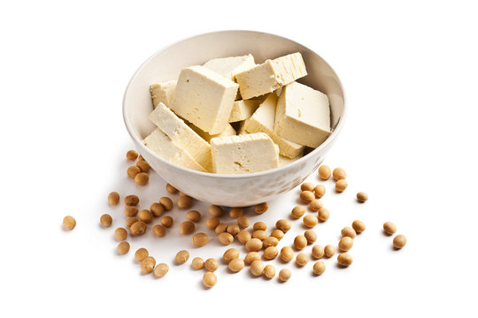tofu and soy beans