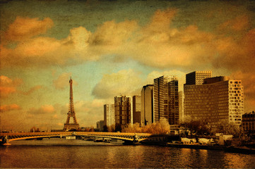 Paris style gravure ancienne - France