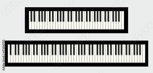 clavier de piano 61 et 88 touches photo libre de droits sur la banque d 39 images. Black Bedroom Furniture Sets. Home Design Ideas