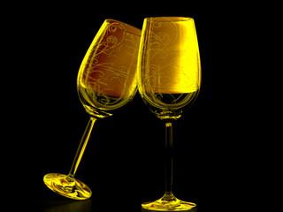 empty glasses