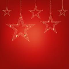 Christmas Red Card Christmas Stars