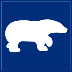 Papier Peint - Schild blau - Bär