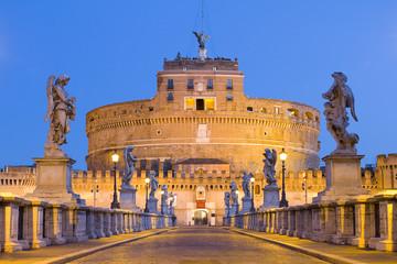 Aluminium Prints Rome Castel Sant'angelo in Rome, Italy