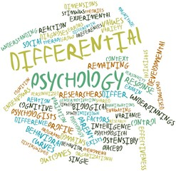 Word cloud for Differential psychology