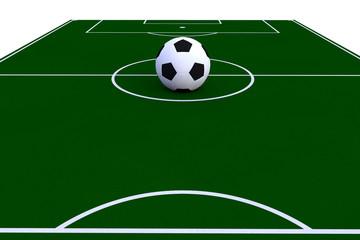 Pelota en campo de futbol