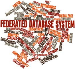 Word cloud for Federated database system