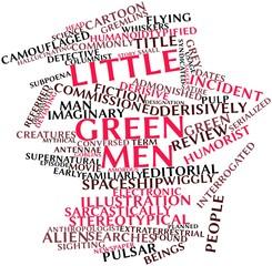 Word cloud for Little green men