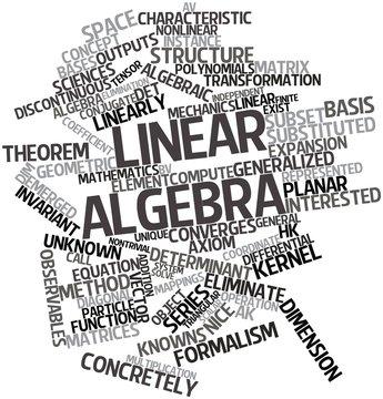 Word cloud for Linear algebra