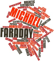Word cloud for Michael Faraday