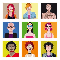 Young People Avatar Set2