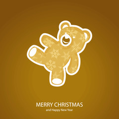 Symbols of Christmas of form teddy bear