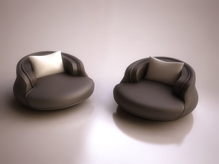 Modern Armchairs in 3d