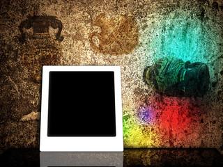 polaroid in grunge design