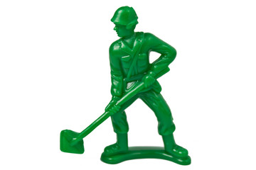 toy soldier isolated on white