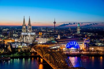 Cologne Night Cityscape