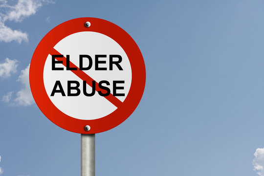 Stop Elder Abuse Sign