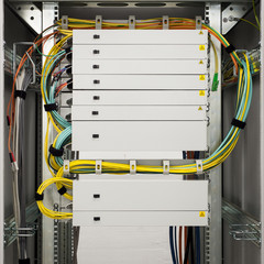 fibre channel rack with trays for high speed data communication