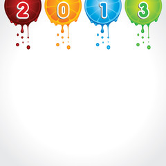 New Year Greeting Card,2013