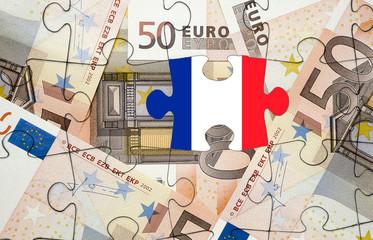 European financial crisis concept: Crisis in France