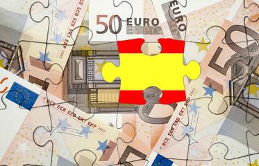 European financial crisis concept: Crisis in Spain