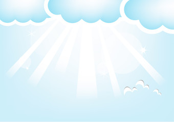 Printed roller blinds Heaven Cloud And Sky, Vector Illustration