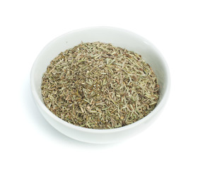 Bowl with dried rosemary