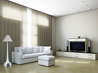 Livingroom with furniture and a TV