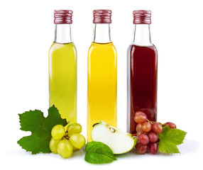 Glass bottles of vinegar