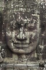 Cara del templo de Bayón. Angkor. Camboya