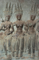 Angkor Wat. Apsaras. Camboya