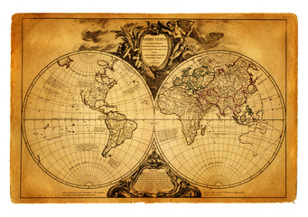Wall Mural - map of world 1752