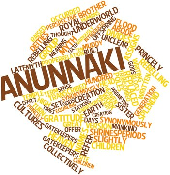 Word cloud for Anunnaki