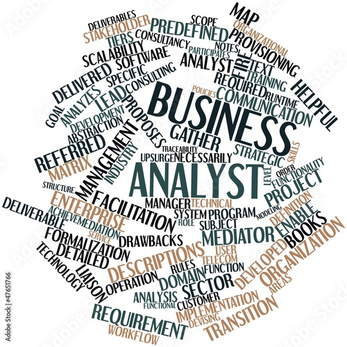 """Pricing Analyst: """"Word Cloud For Business Analyst"""" Stock Photo And Royalty"""