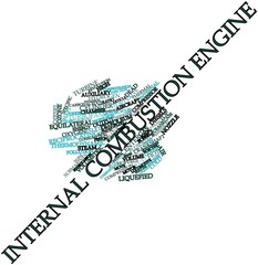 Word cloud for Internal combustion engine