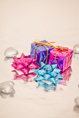 shining colorful Christmas presents