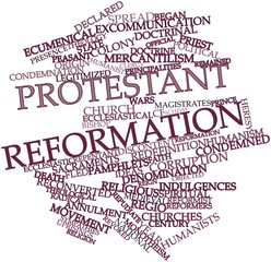 Word cloud for Protestant Reformation