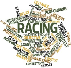Word cloud for Racing