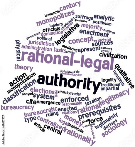 """Word cloud for Rational-legal authority"" Stock photo and ..."