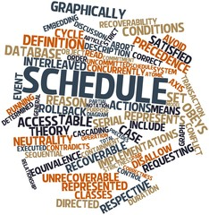 Word cloud for Schedule