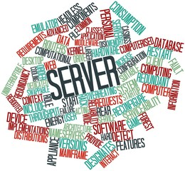 Word cloud for Server