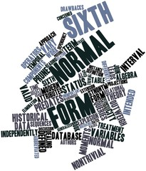 Word cloud for Sixth normal form